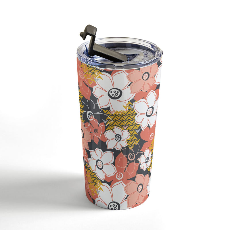 Heather Dutton Petals And Pods Lava Travel Mug - theprintypeople