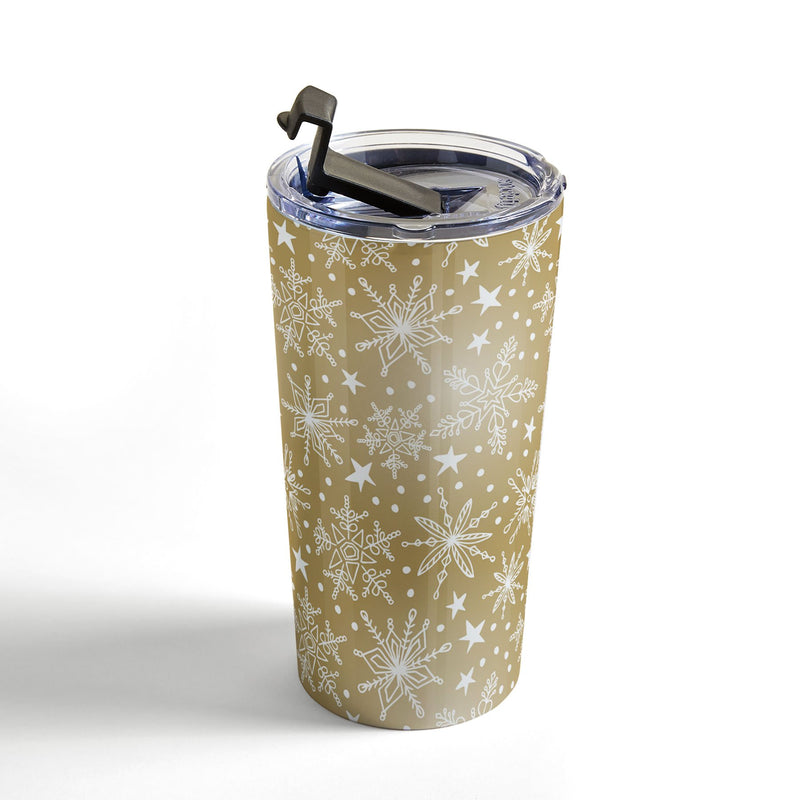 Heather Dutton Snow Squall Guilded Travel Mug - theprintypeople