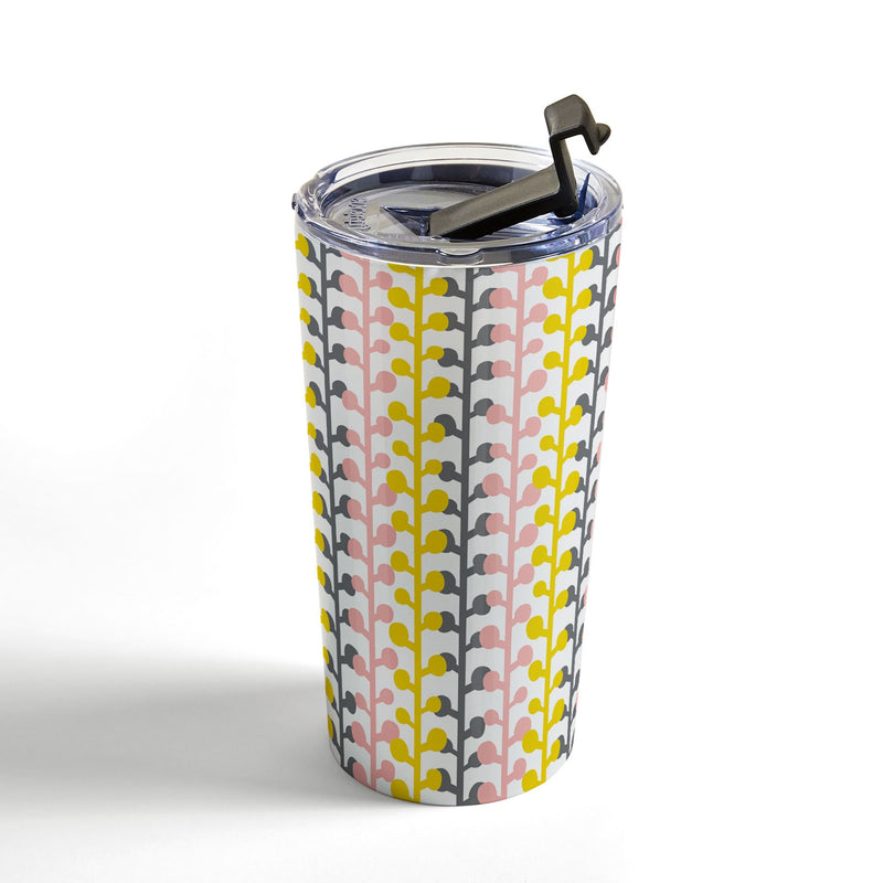 Heather Dutton Sprig Pink Lemonade Travel Mug - theprintypeople