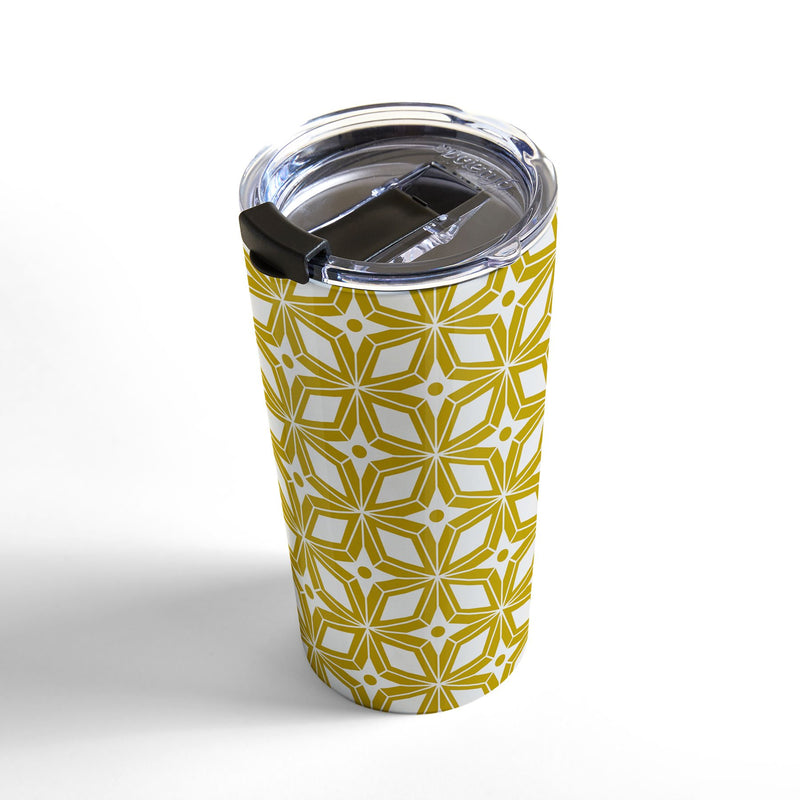 Heather Dutton Starbust Gold Travel Mug - theprintypeople