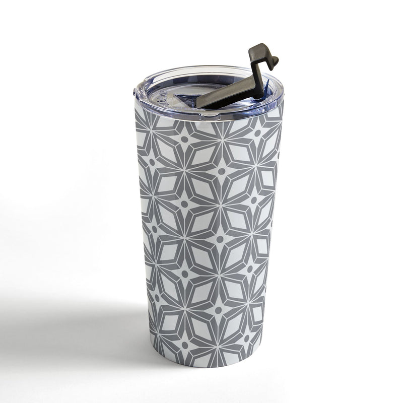 Heather Dutton Starbust Grey Travel Mug - the printy people