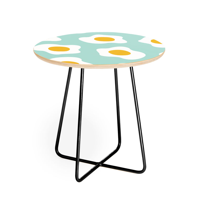 Hello Sayang Eggcellent Blue Eggs Round Side Table - the printy people