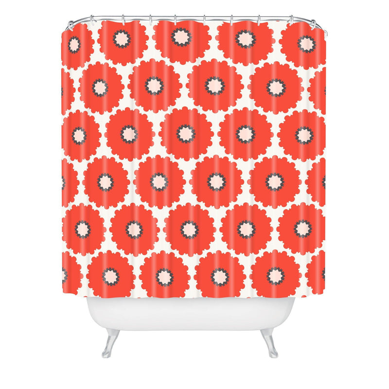 Holli Zollinger Coral Pop Shower Curtain - theprintypeople