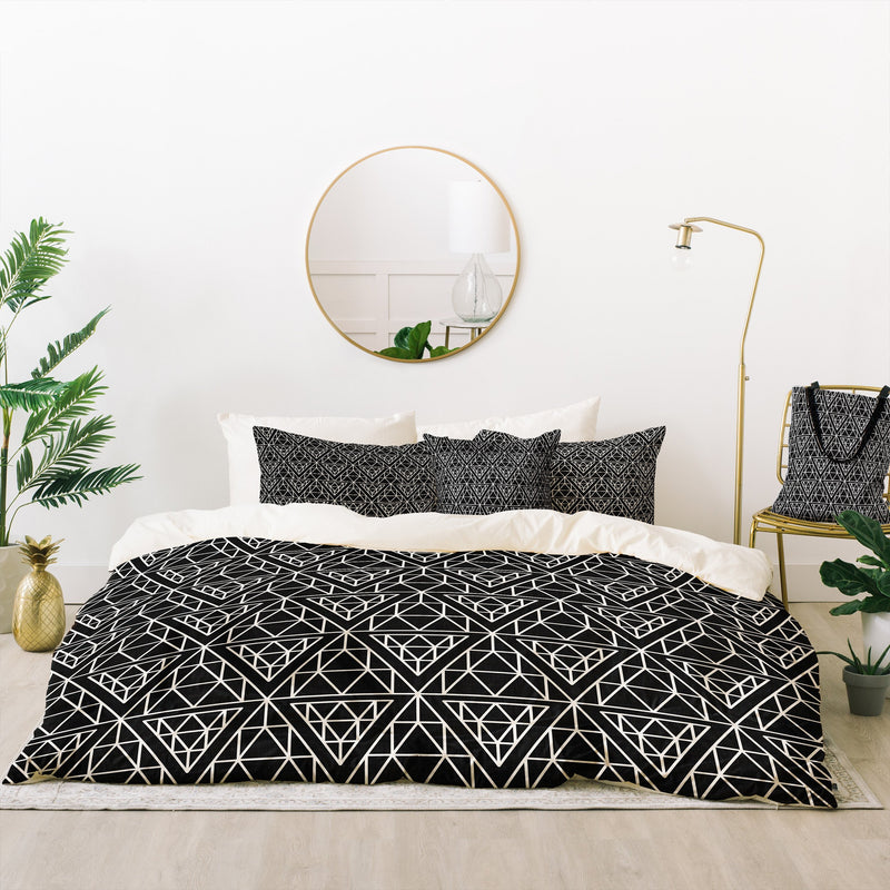 Holli Zollinger Diamond Lines Bed In A Bag Duvet Cover Set - theprintypeople