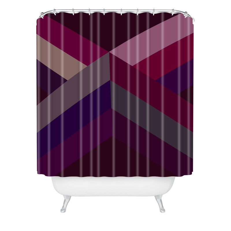 Iveta Abolina Burgundy Crossroads Shower Curtain - the printy people