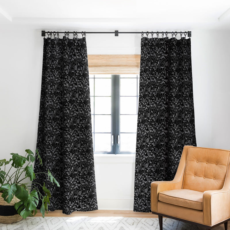 Iveta Abolina Marcella Mushrooms Blackout Window Curtain - the printy people