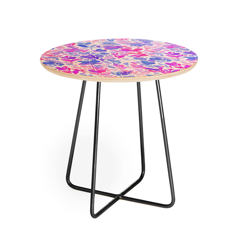 Jacqueline Maldonado Flirt Purple Round Side Table - theprintypeople
