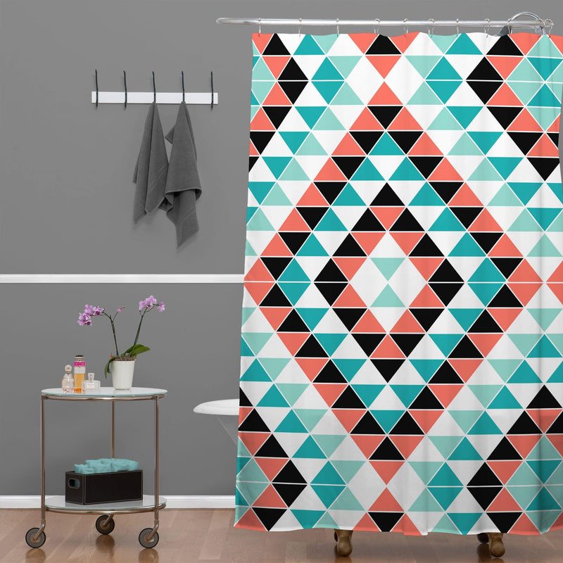 Jacqueline Maldonado Tribal Triangles 1 Shower Curtain - the printy people
