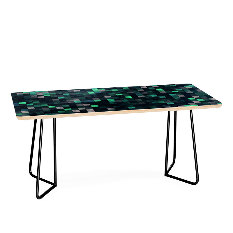 Kaleiope Studio Teal And Gray Squares Coffee Table - theprintypeople