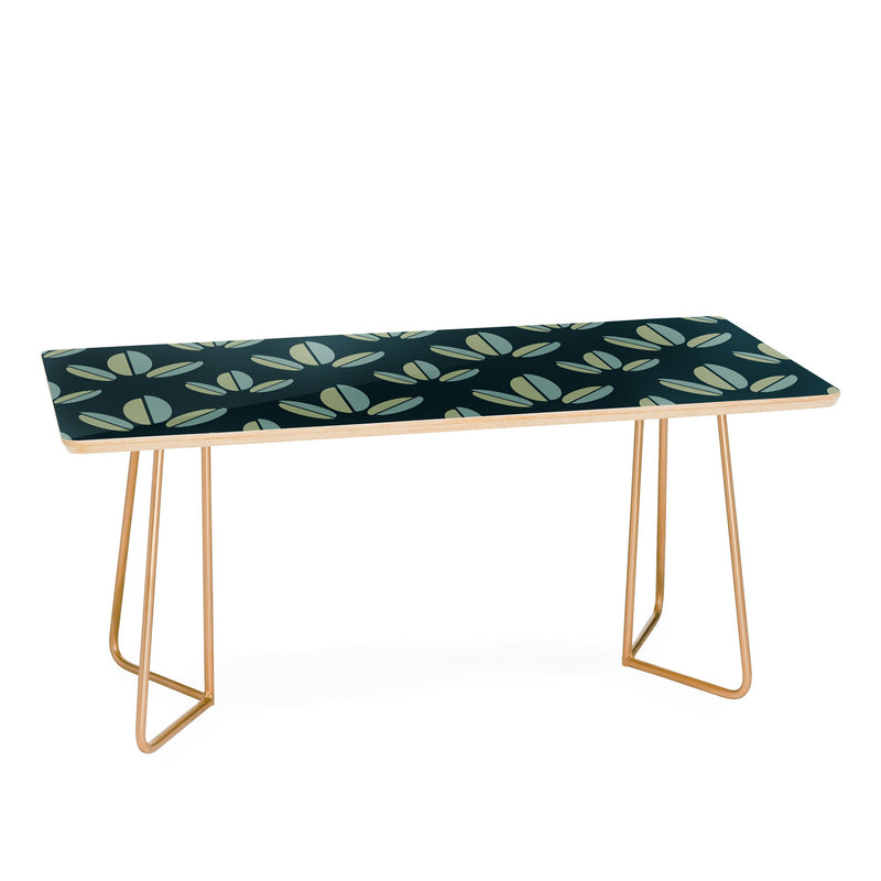 Lisa Argyropoulos Modern Leaves Dk Green Coffee Table - theprintypeople