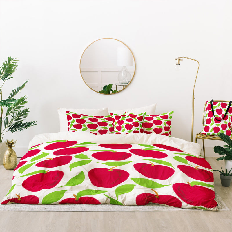 Lisa Argyropoulos So Red Delicious Bed In A Bag Duvet Cover Set - theprintypeople