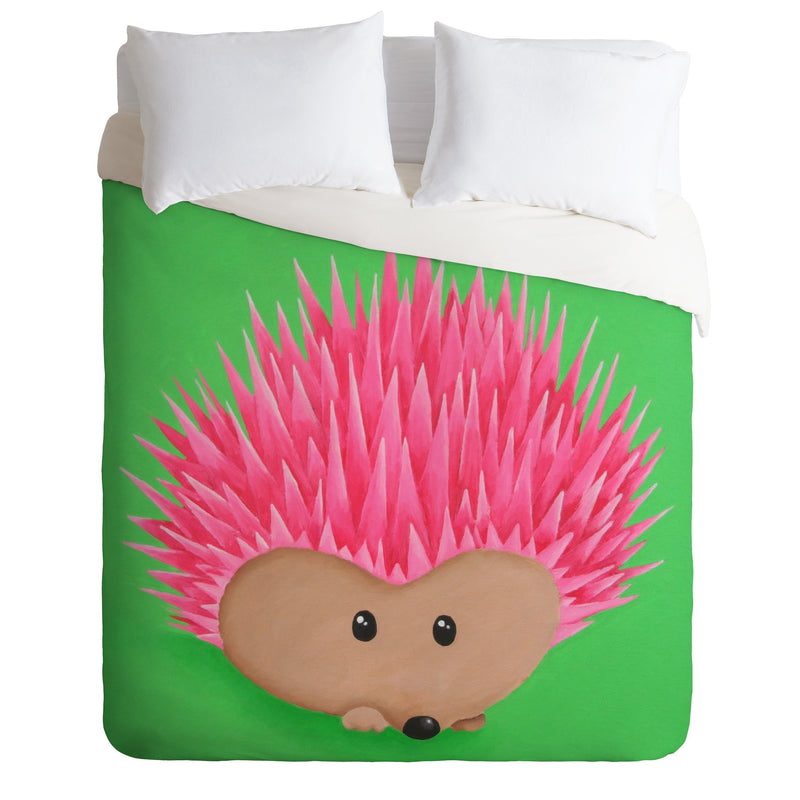 Mandy Hazell Ollie Hedgehog Duvet Cover - the printy people