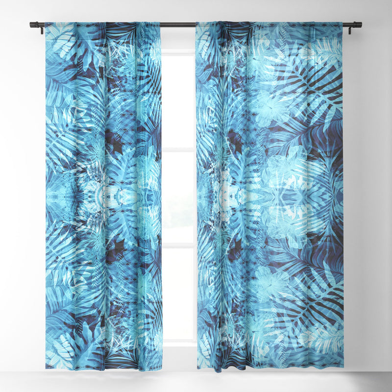 Marta Barragan Camarasa Blue Tropical Jungle Sheer Non Repeat - the printy people