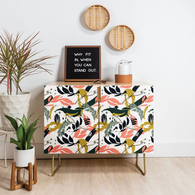 Marta Barragan Camarasa Brushstrokes Of Nature Credenza - theprintypeople