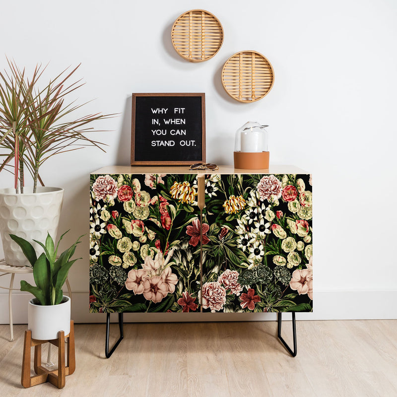 Marta Barragan Camarasa Dark Bloom I Credenza - theprintypeople