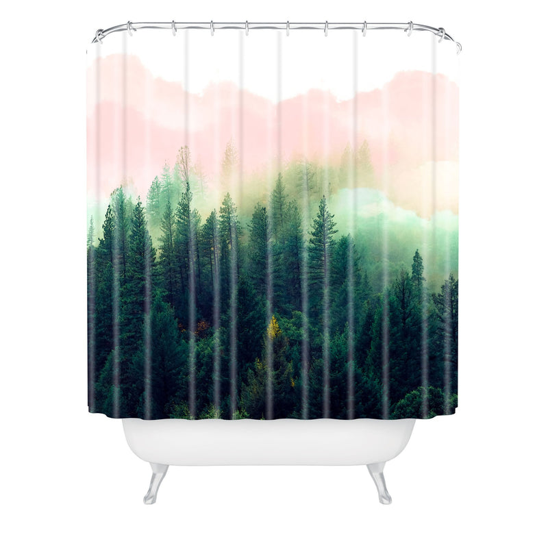 Marta Barragan Camarasa Mountain Landscape Painting 01 Shower Curtain - the printy people