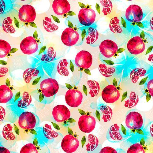 Marta Barragan Camarasa Pomegranate Pattern Shower Curtain - theprintypeople
