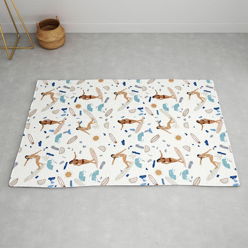 Marta Barragan Camarasa Surfing The Terrazzo Sea Area Rug - the printy people