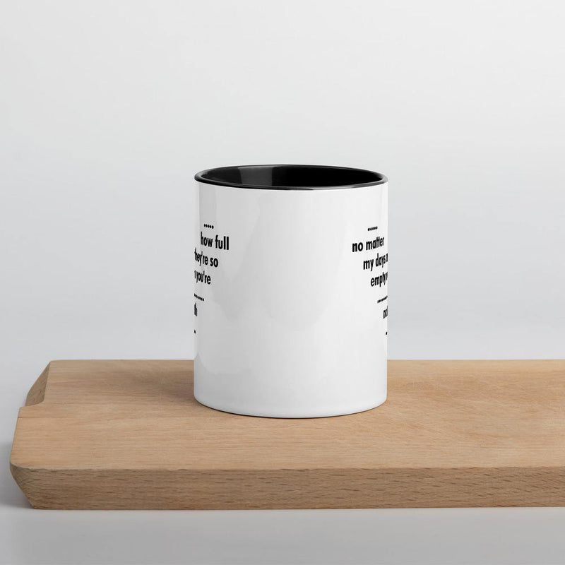 Empty when you are Not with me - Mug with Color Inside - theprintypeople