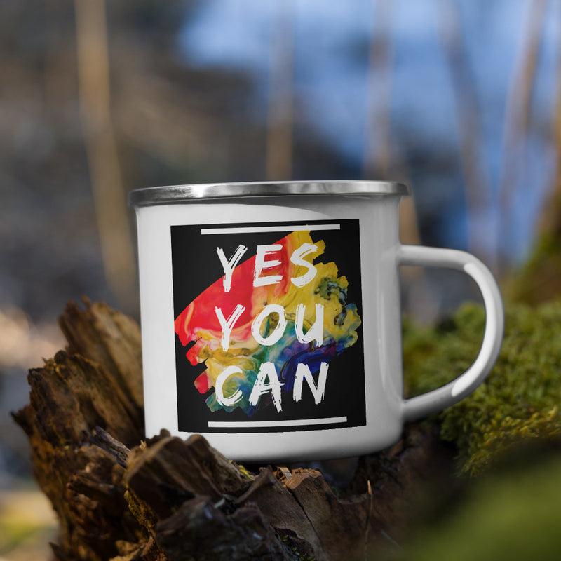 Yes You Can Enamel Mug - theprintypeople