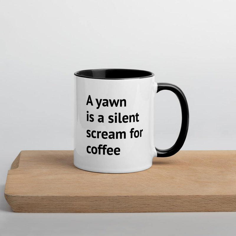 A Reason for Coffee - Mug with Color Inside - theprintypeople