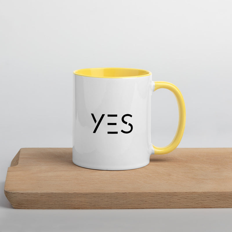 YES Be Inspired Mug - with Color - theprintypeople
