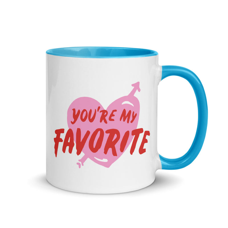 You Are My Favorite - Mug with Color Inside - theprintypeople