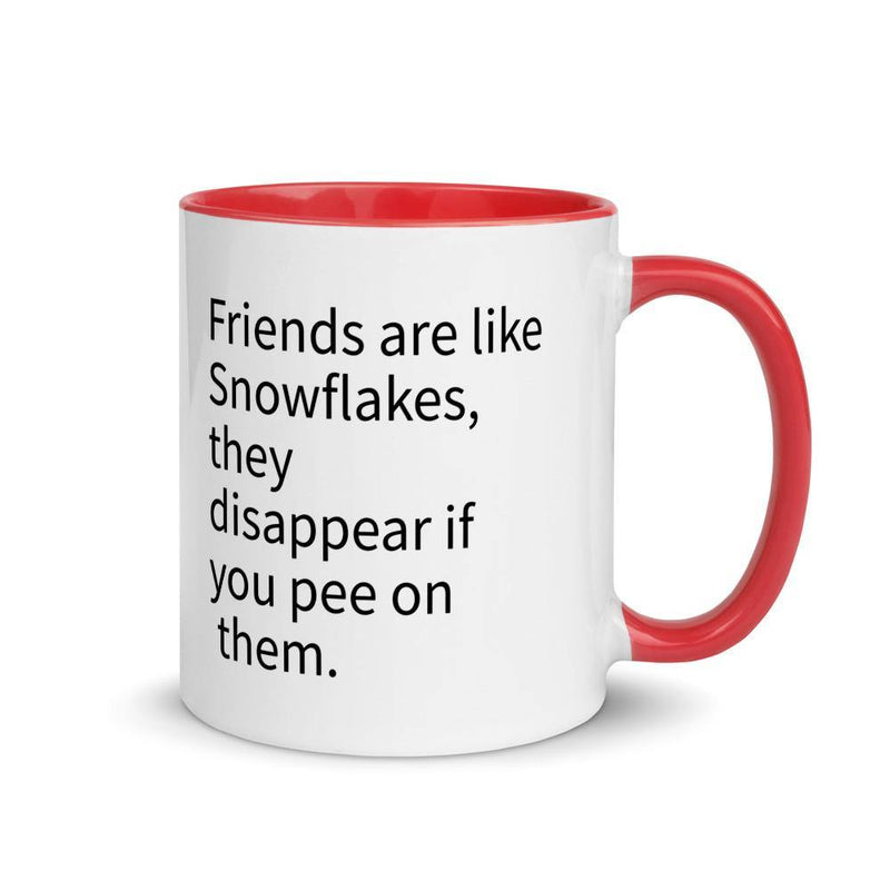 Friends are Snowflakes - Mug with Color Inside - theprintypeople