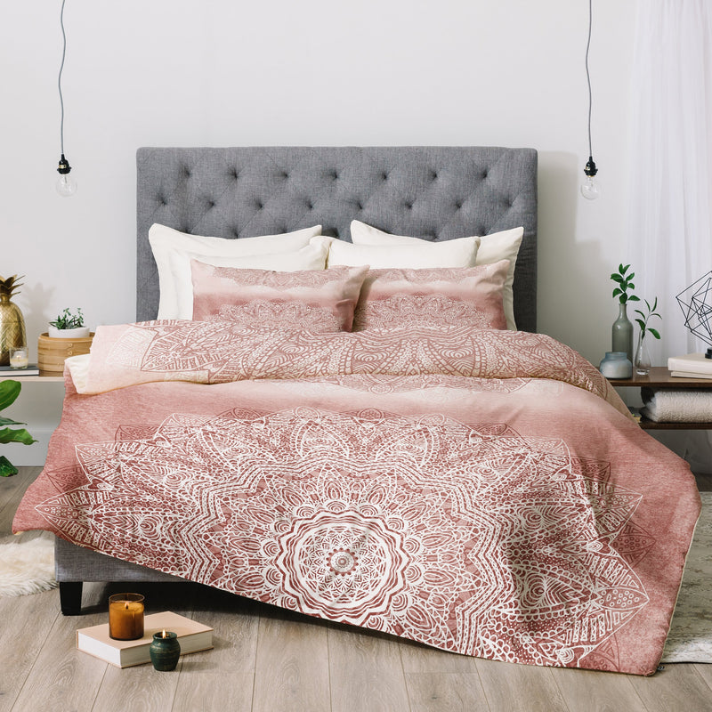Monika Strigel THERE GOES THE FEAR ROSE BLUSH Comforter - theprintypeople