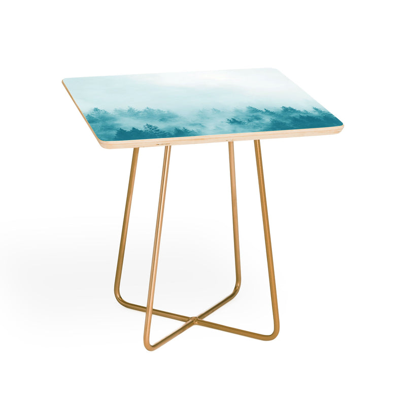 Nature Magick  Teal Foggy Forest Adventure Side Table - theprintypeople