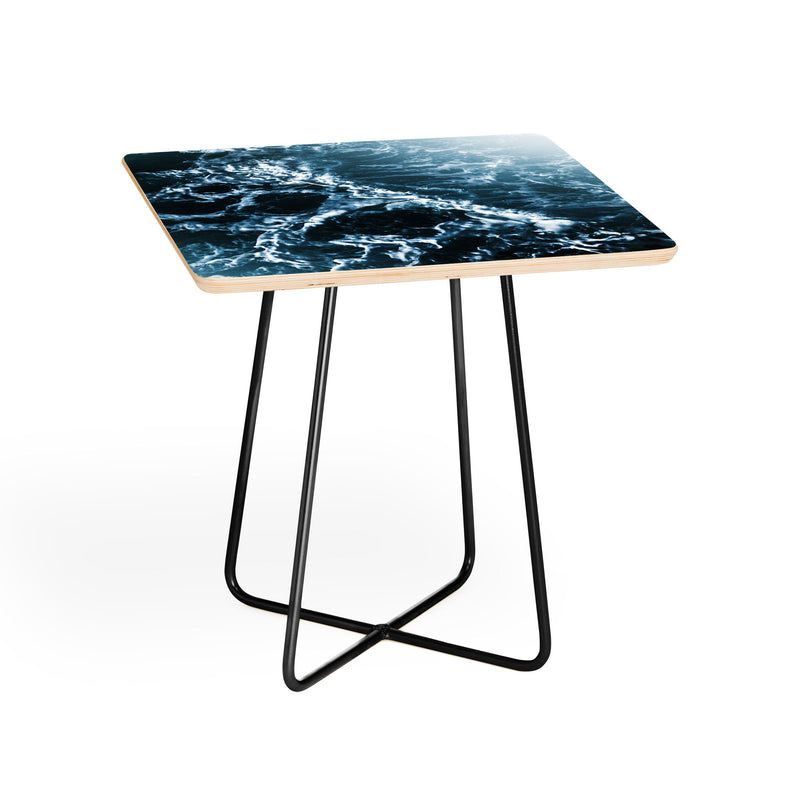 Nature Magick Teal Waves Side Table - theprintypeople