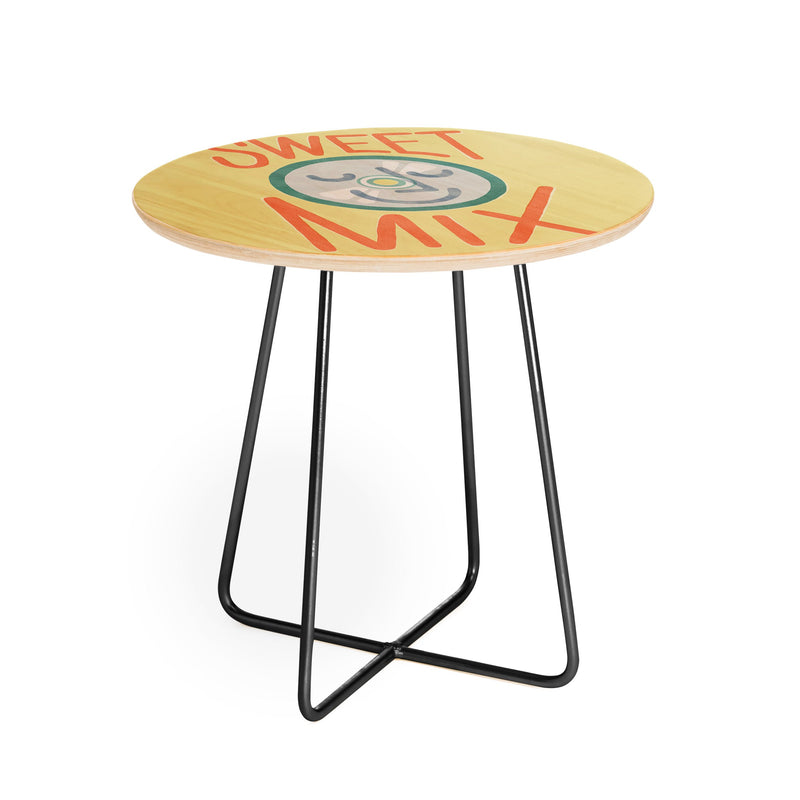 Nick Nelson Sweet Mix Round Side Table - theprintypeople