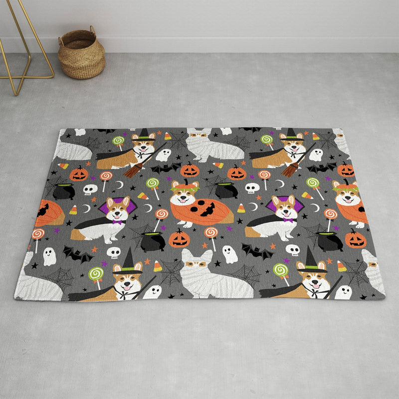 Petfriendly Corgi Halloween Costume Area Rug - theprintypeople