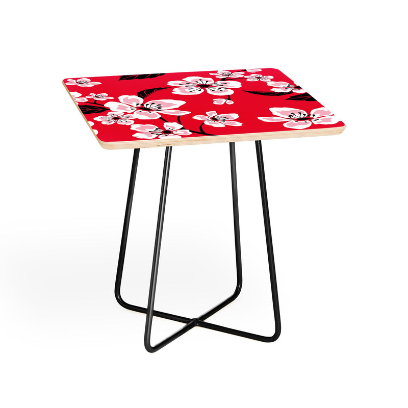 Pi Photography And Designs Pink Sakura Cherry Blooms Side Table - theprintypeople