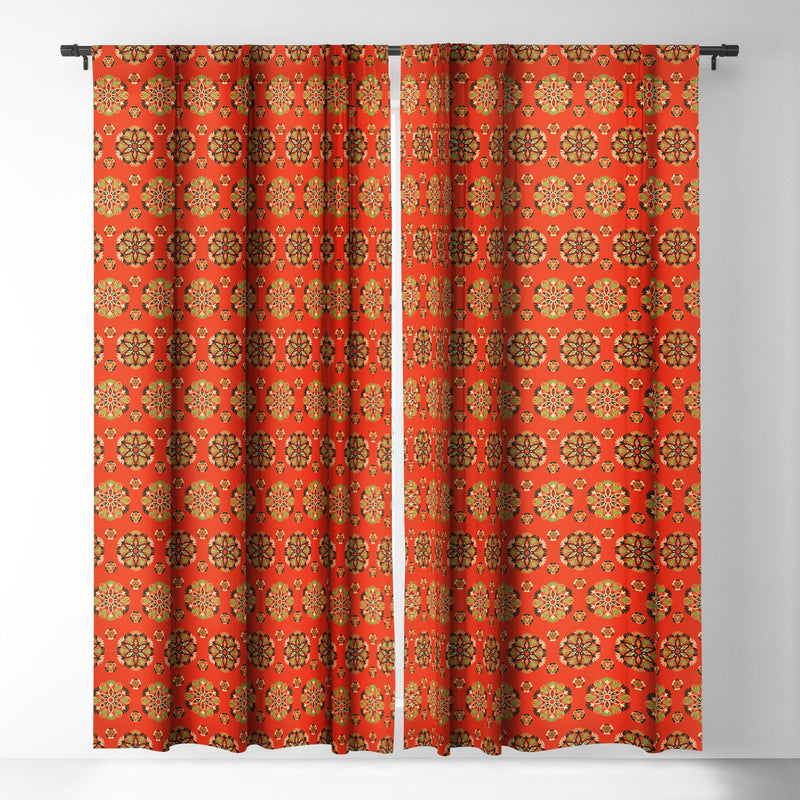Pimlada Phuapradit Floral Baubles 2 Blackout Window Curtain - theprintypeople
