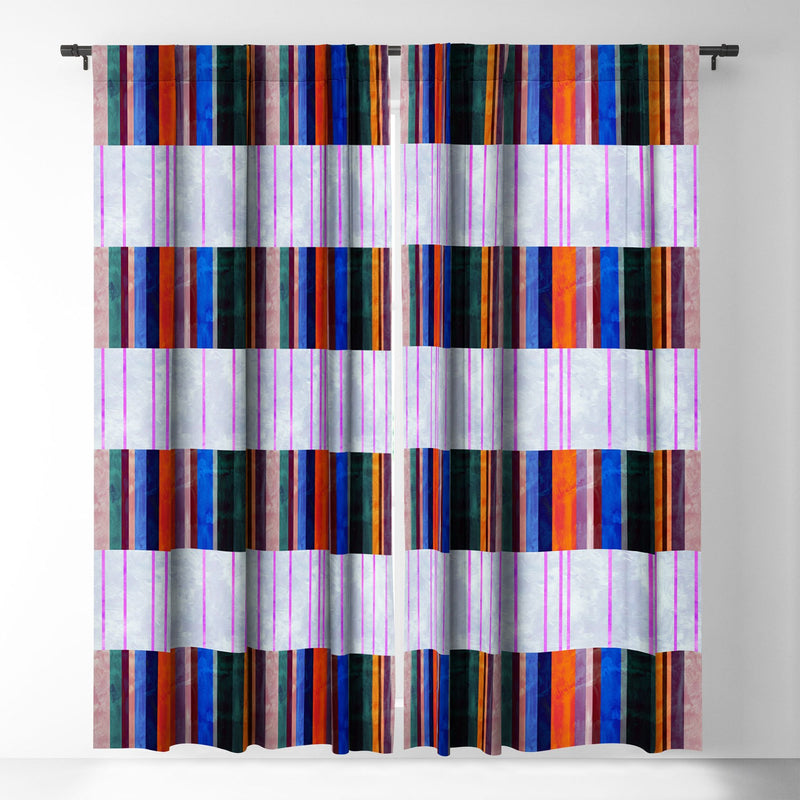 Schatzi Brown Merri Stripe 1a Blackout Window Curtain - theprintypeople