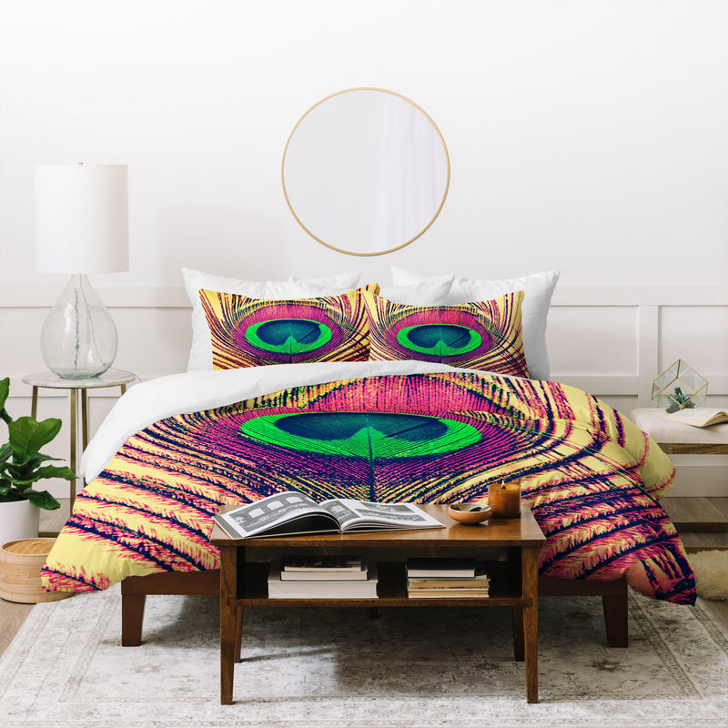 Shannon Clark Peacock 2 Duvet Cover - the printy people