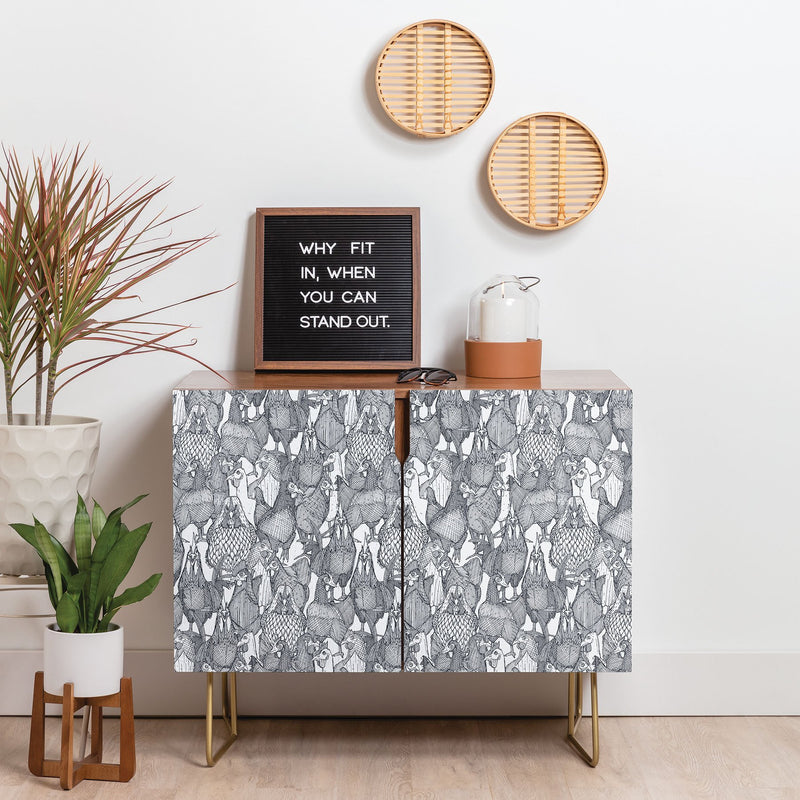 Sharon Turner Just Chickens Credenza - theprintypeople
