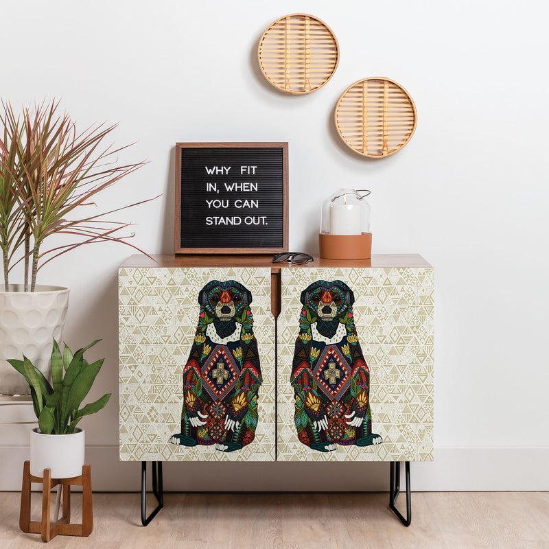 Sharon Turner Sun Bear Geo Almond Credenza - theprintypeople