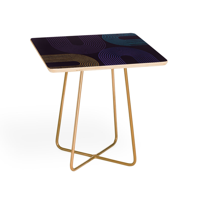 Sheila Wenzel Ganny Purple Chalk Abstract Side Table - theprintypeople