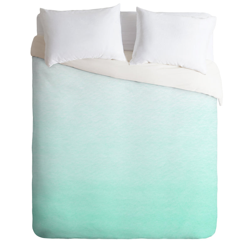 Social Proper Mint Ombre Duvet Cover - the printy people