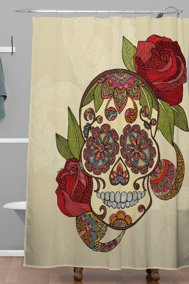Valentina Ramos Sugar Skull Shower Curtain - theprintypeople