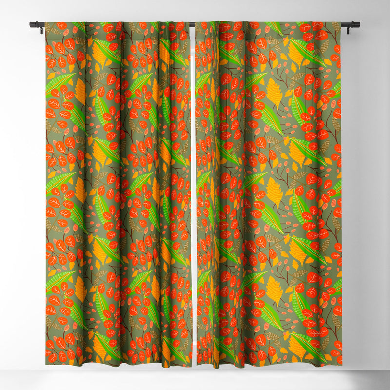 Viviana Gonzalez Botanic Floral 4 Blackout Window Curtain - the printy people
