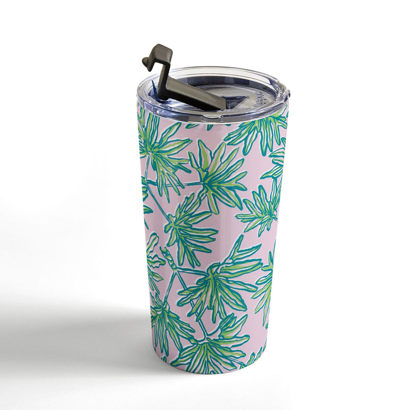 Wagner Campelo TROPIC PALMS ROSE Travel Mug - theprintypeople