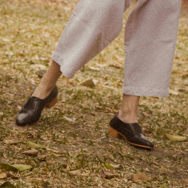 The Balmore Oxford in Black - andanté, oxfords - loafers, oxfords leather footwear