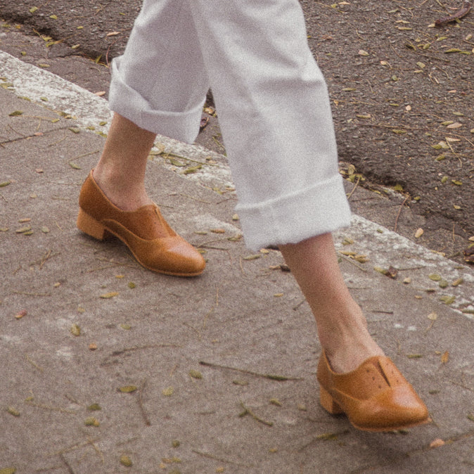 The Balmore Oxford in Tan - andanté, oxfords - loafers, oxfords leather footwear