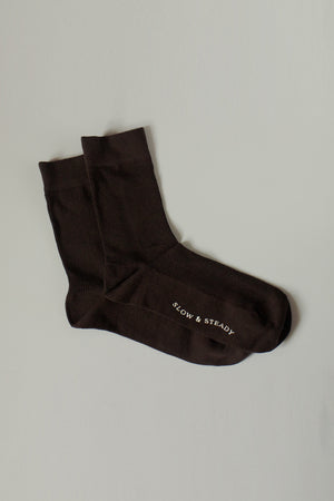 The Mantra Sock in Dark Brown
