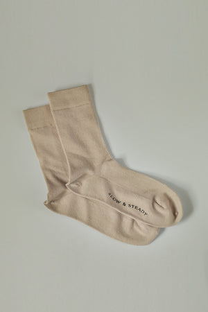 The Mantra Sock in Oatmeal