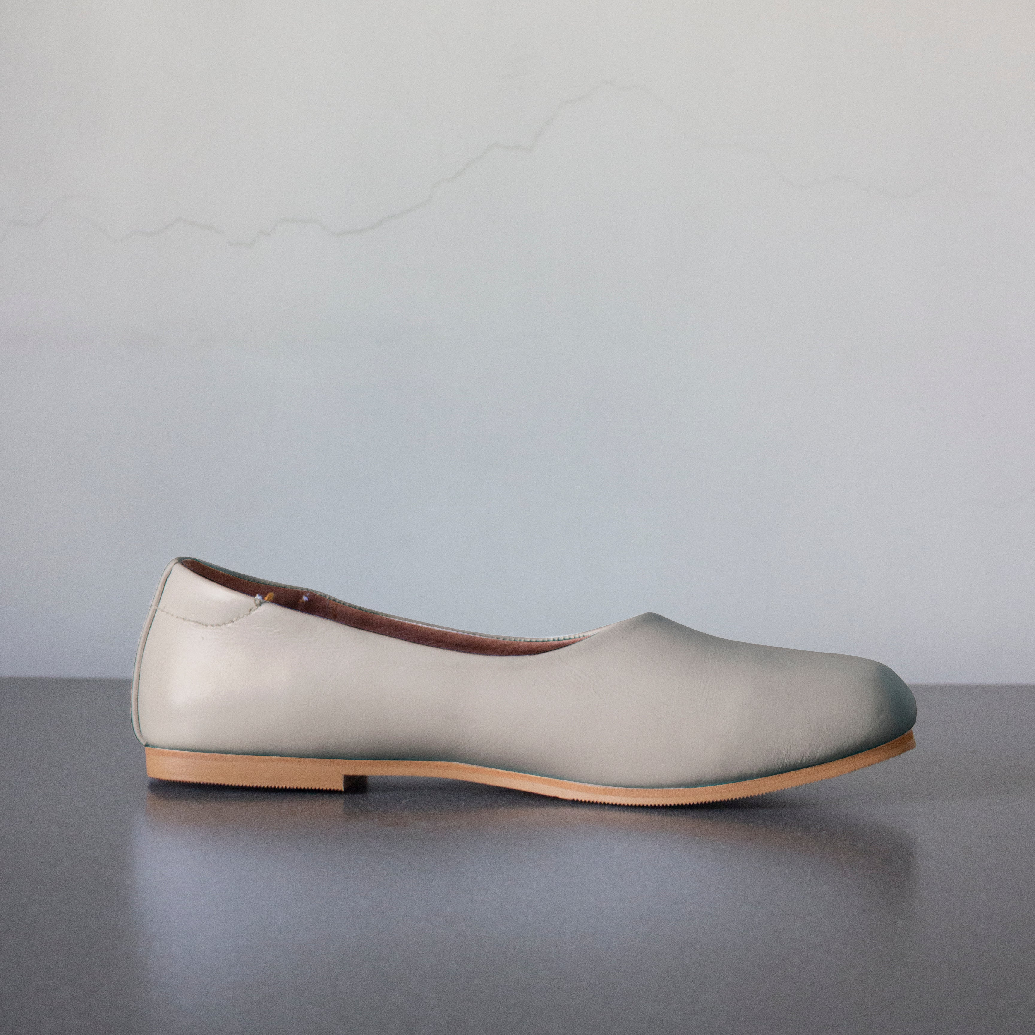 The Ballerine Flat in Antique White - andanté, flats - loafers, flats leather footwear