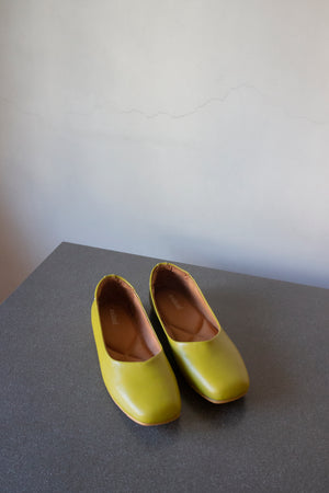The Ballerine Flat in Avocado - andanté, flats - loafers, flats leather footwear